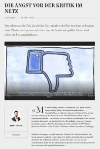 Die Angst vor der Kritik im Netz